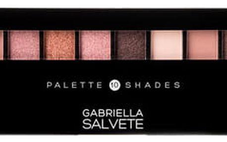 Gabriella Salvete Palette 10 Shades 12 g oční stín 01 Rose W