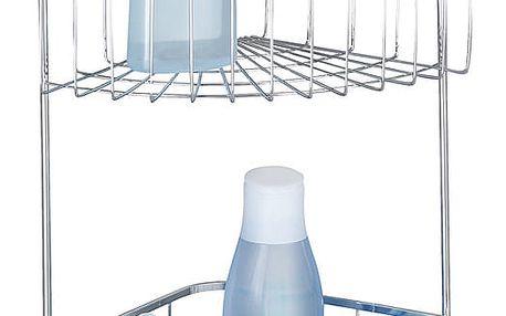 Koupelnová rohová police BOVINO, Power-Loc, 2 úrovně - nerezová ocel, WENKO