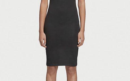 Šaty adidas Originals 3 Stripes Dress Černá