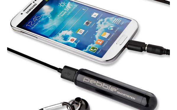 Černá cestovní nabíječka Pebble Smartstick VPP-004