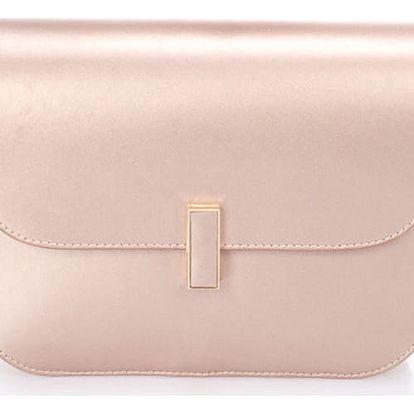 Pudrově růžová kožená kabelka Giulia Massari Beso