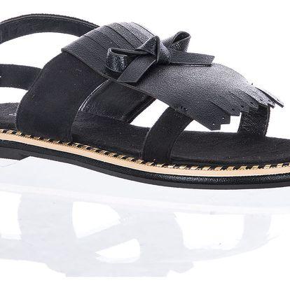 Balada Dámské sandály s třásní semišové