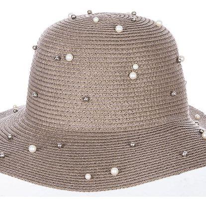 Fashion Icon Dámský letní klobouk s perlíčky