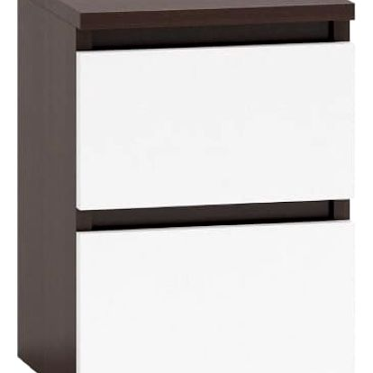 Noční stolek M2 wenge/bílá