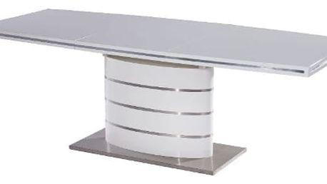 Jídelní stůl FANO bílý 160(220)x90 cm