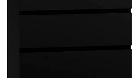 Komoda 5 šuplíků černá