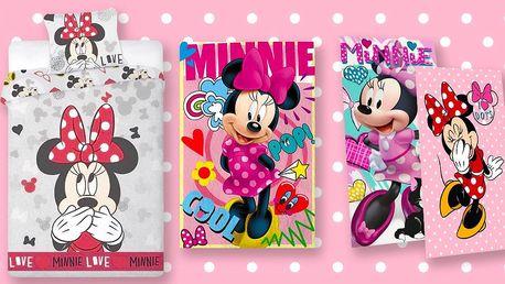 Povlečení, deka, osušky a ručníky s myškou Minnie