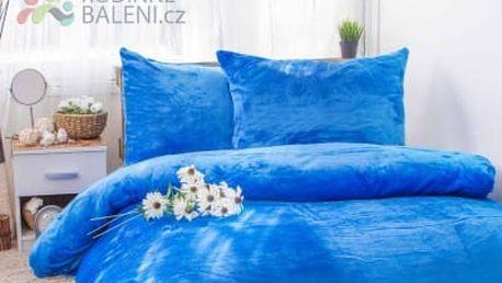 XPOSE ® Francouzské povlečení mikroplyš JORGA - modrá 200x240, 70x90