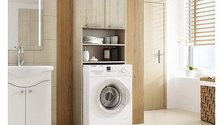 Skříňka do koupleny s možností uložení pračky dub sonoma