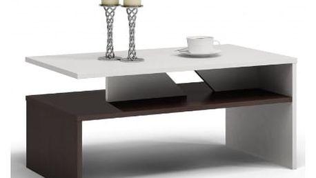 Konferenční stolek COLORADO wenge/bílá