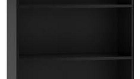 Regál 80 cm černý