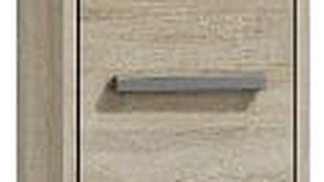 Koupelnová skříňka s regálem 43 cm dub sonoma