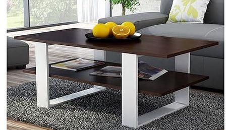 Konferenční stolek SALON wenge/bílá