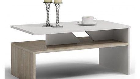 Konferenční stolek COLORADO sonoma/bílá