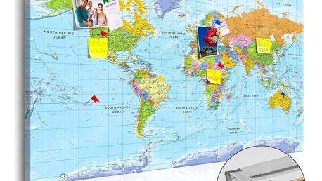 Nástěnka s mapou světa Artgeist Orbis Terrarum, 90x60cm