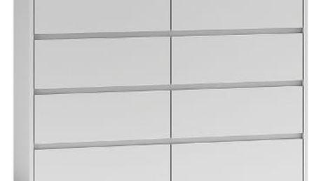Komoda 8 šuplíků 120 cm Bílá