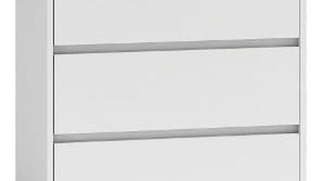 Komoda KARO 3 šuplíky Bílá