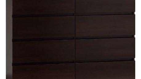Komoda 8 šuplíků Malva 120 cm Wenge