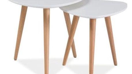 Stůl konferenční NOLAN A bílá/buk