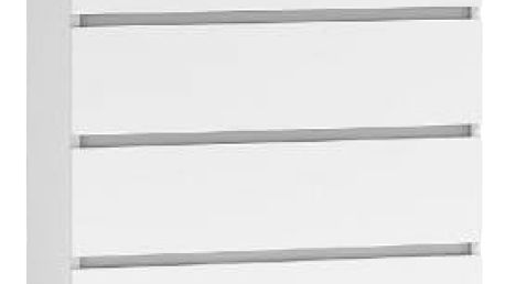 Komoda 4 šuplíky Bílá