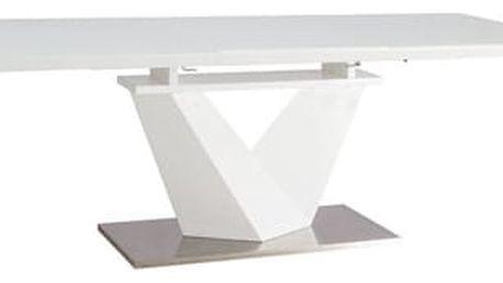 Jídelní stůl ALARAS III bílý 160(220)x90 cm