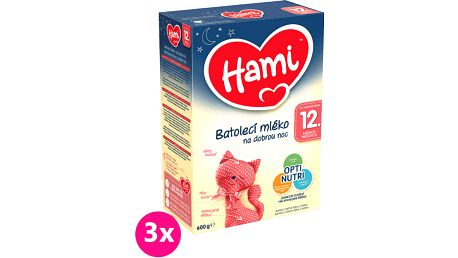 3x HAMI 12+ Na dobrou noc (600 g) - kojenecké mléko