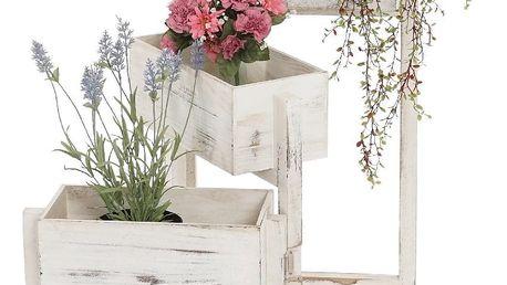 Bílý stojan na květiny Mendler Shabby Chic