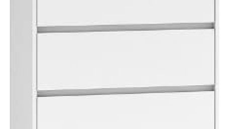 Komoda 5 šuplíků Malva Bílá