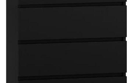 Komoda 4 šuplíky černá