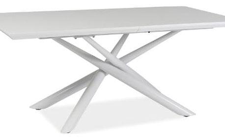 Stůl jídelní TARANTO bílý 160(200)x90 cm