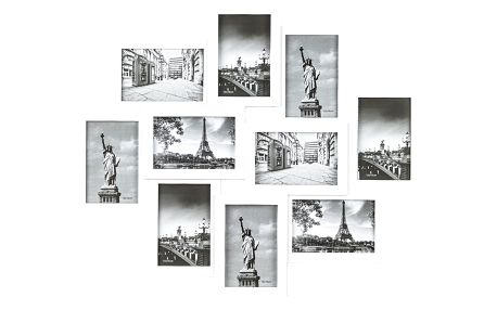 Fotorámeček Sultan na 10 fotografií 10 x 15 cm, bílá, 49 x 59 cm