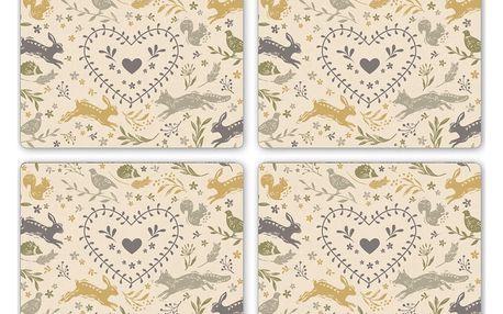 Sada 4 korkových prostírání Cooksmart England Foxy, 29 x 21,5 cm
