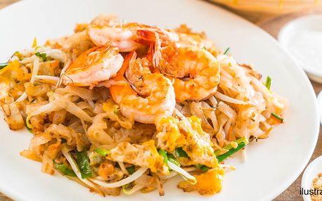 Chuť Vietnamu: smažené rýžové nudle s krevetami