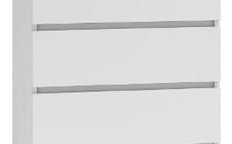 Komoda 5 šuplíků Bílá