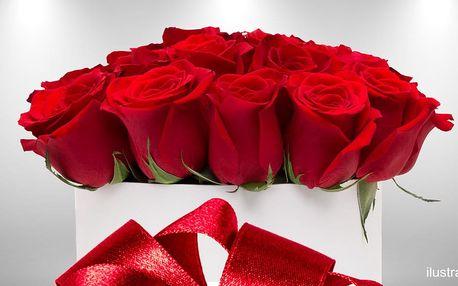 Luxusní krabice růží i jednotlivé růže Red Naomi