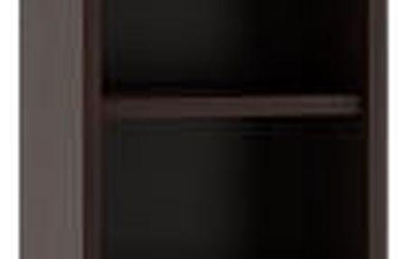 Koupelnová skříňka s regálem 30 cm wenge