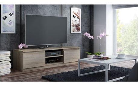 TV stolek LCD 140 cm dub sonoma