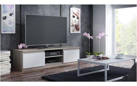 TV stolek LCD 140 cm dub sonoma/bílá