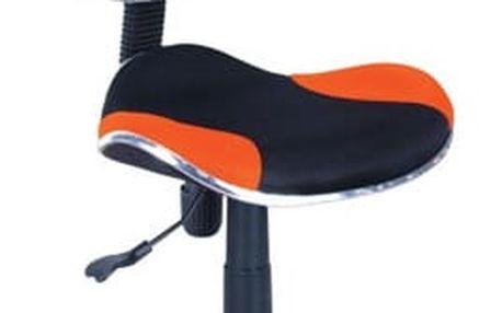Židle kancelářská Q-G2 černo-oranžová