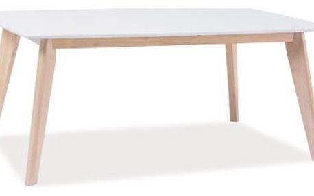 Konferenční stolek COMBO B 110x60 cm bílá/dub