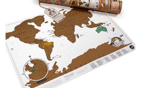 Seškrabávací mapa světa Luckies of London Mini
