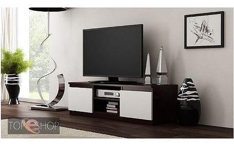 TV stolek LCD 120 cm wenge/bílá
