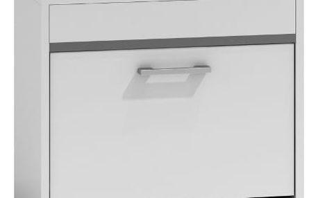 Botník se sedátkem bílý