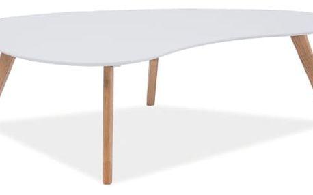 Konferenční stolek AUREA bílá/dub