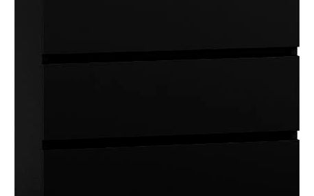 Komoda 3 šuplíky černá