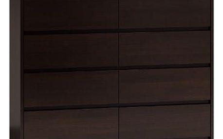 Komoda 8 šuplíků 120 cm Wenge