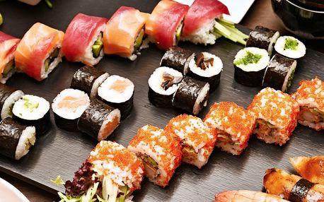 Samurajské menu s 38 ks sushi i polévkou pro 2