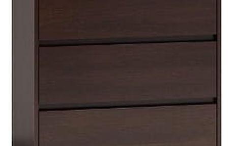 Komoda KARO 3 šuplíky Wenge