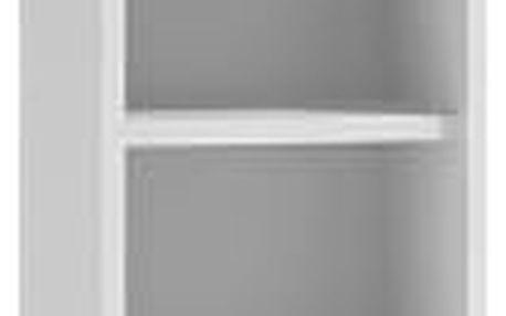 Koupelnová skříňka s regálem 30 cm bílá