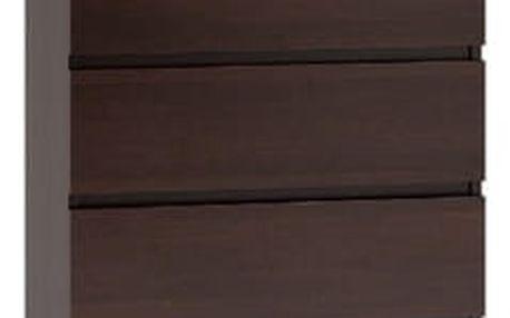Komoda 5 šuplíků Wenge